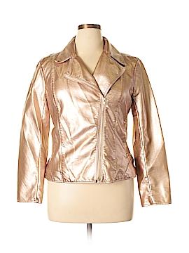 V Cristina Faux Leather Jacket Size L