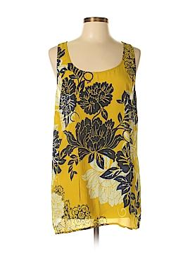 CAbi Sleeveless Silk Top Size XL