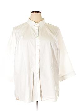 Lands' End 3/4 Sleeve Button-Down Shirt Size 24W (Plus)