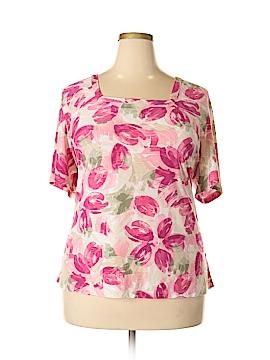 JM Collection Short Sleeve Top Size 3X (Plus)