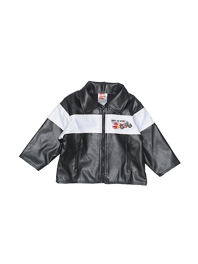 0ffa19eae Park Bench Kids Stripes Color Block Black Faux Leather Jacket Size ...