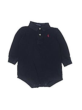 Ralph Lauren Baby Long Sleeve Onesie Size 12-18 mo