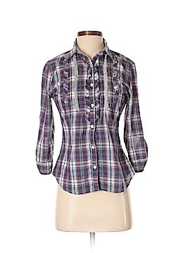 Ali & Kris 3/4 Sleeve Button-Down Shirt Size S