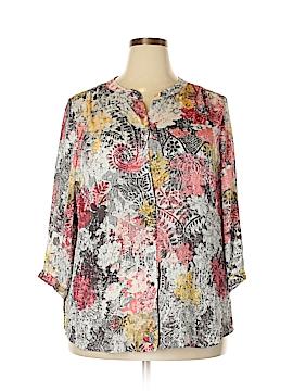Liz Claiborne 3/4 Sleeve Blouse Size 1X (Plus)