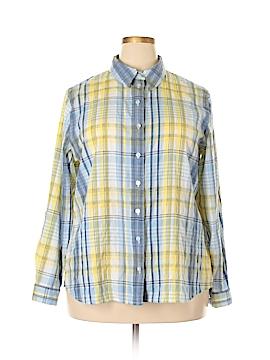 Allison Daley Long Sleeve Button-Down Shirt Size 20 (Plus)