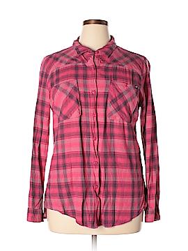 Fox Long Sleeve Button-Down Shirt Size XL