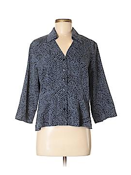 Norton McNaughton 3/4 Sleeve Button-Down Shirt Size M