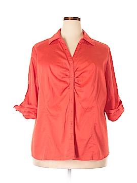 Fred David 3/4 Sleeve Button-Down Shirt Size 3X (Plus)
