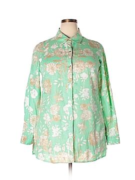 Charter Club Long Sleeve Button-Down Shirt Size 0X (Plus)