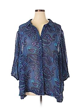 Roaman's 3/4 Sleeve Blouse Size 32 (Plus)
