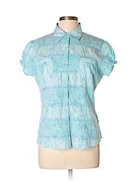 Adiktd Jeans Short Sleeve Button-Down Shirt Size M