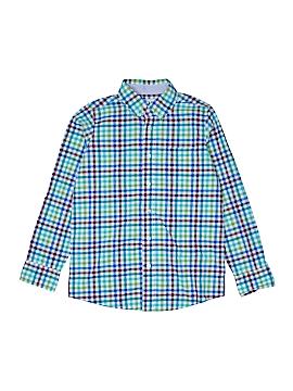 Lands' End Long Sleeve Button-Down Shirt Size 10 - 12