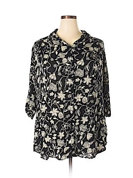 C.M. Shapes Short Sleeve Blouse Size 1X (Plus)