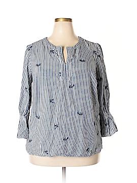 Westport 3/4 Sleeve Button-Down Shirt Size 1X (Plus)
