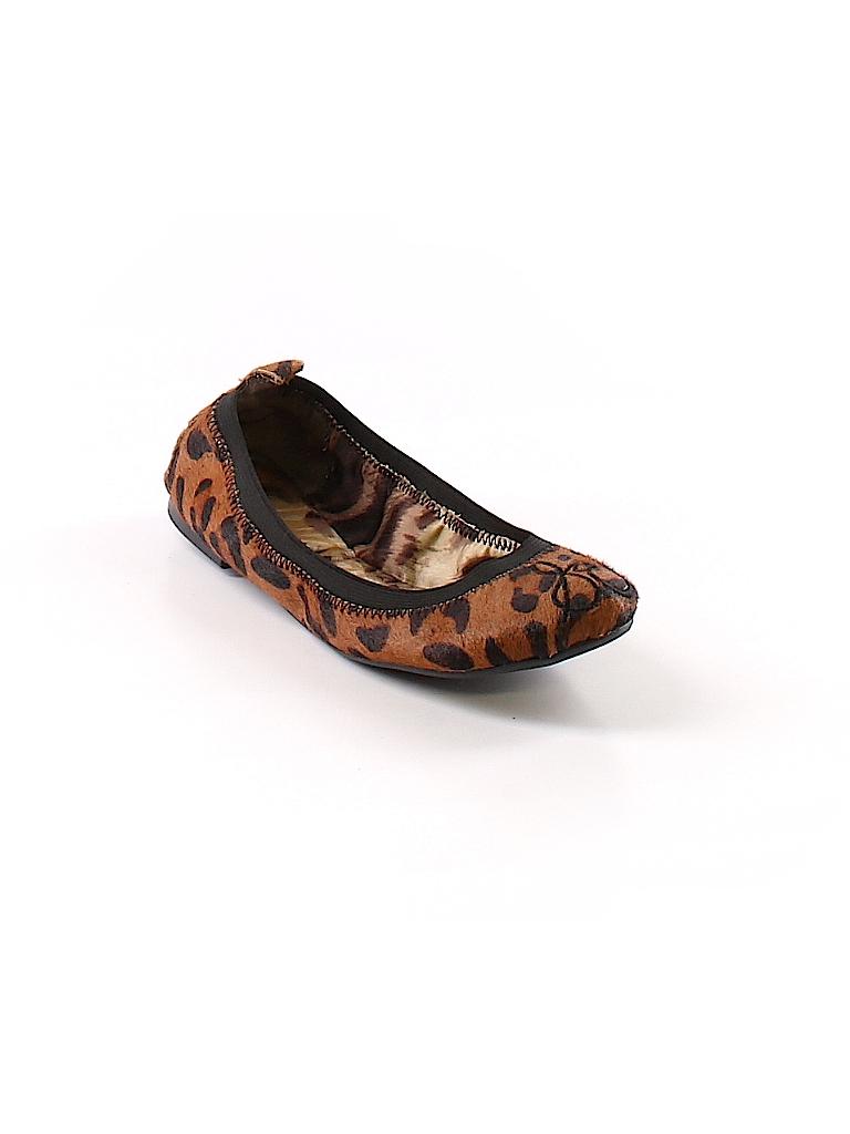 82c2abaa3a89 Sam Edelman Animal Print Brown Flats Size 5 1 2 - 81% off
