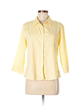 Tangerine 3/4 Sleeve Button-Down Shirt Size XL