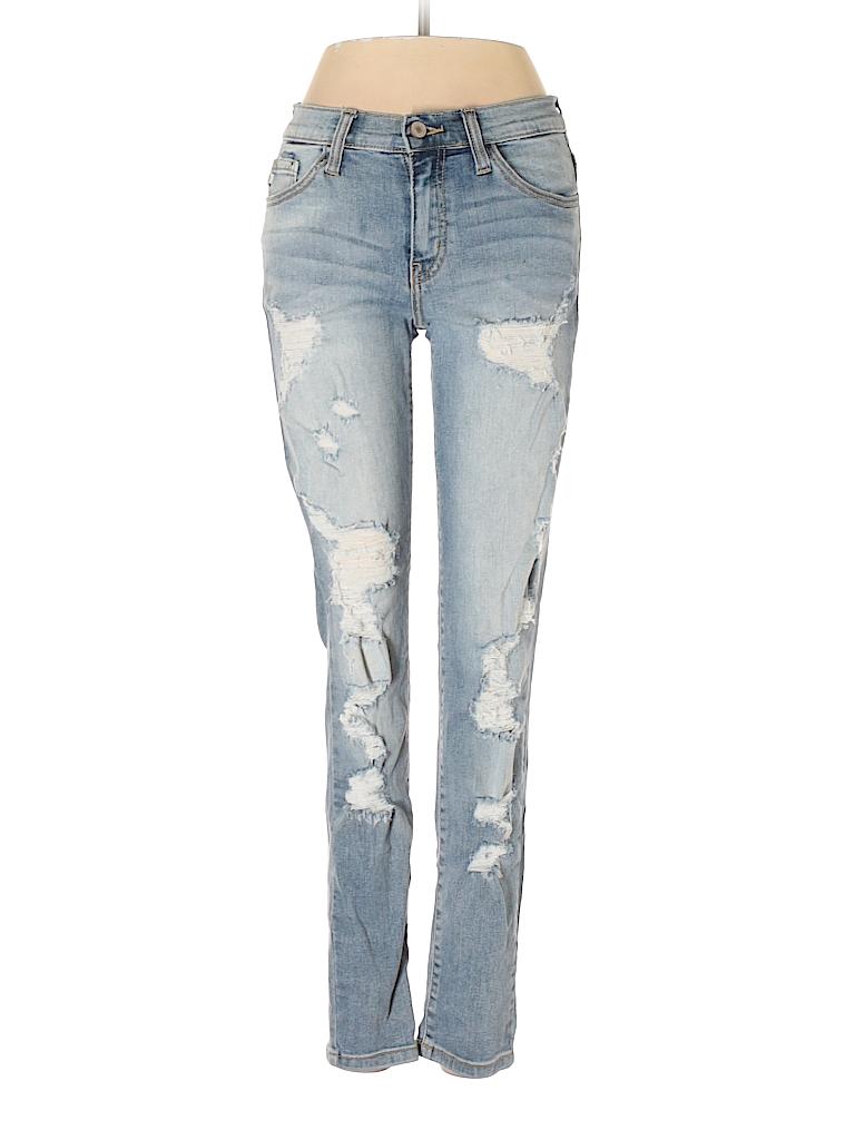 540b442899b75 KANCAN JEANS Solid Blue Jeans 26 Waist - 66% off | thredUP