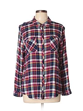Relativity Long Sleeve Button-Down Shirt Size XL