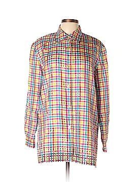 Diane Gilman Long Sleeve Silk Top Size L