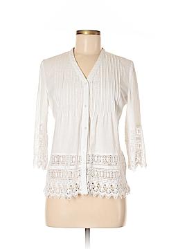 Cynthia Rowley for T.J. Maxx 3/4 Sleeve Button-Down Shirt Size M