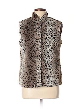 Coldwater Creek Faux Fur Vest Size M