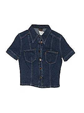Plein Sud Short Sleeve Button-Down Shirt Size 40 (FR)