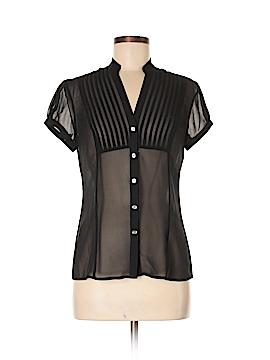 Express Design Studio Short Sleeve Silk Top Size S