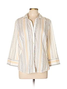 Banana Republic Factory Store 3/4 Sleeve Button-Down Shirt Size XL