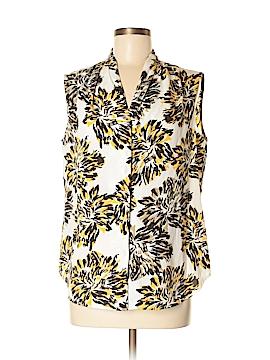 Jones New York Collection Short Sleeve Blouse Size 10