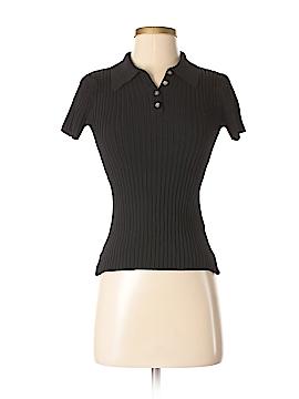 August Silk Short Sleeve Polo Size S (Petite)