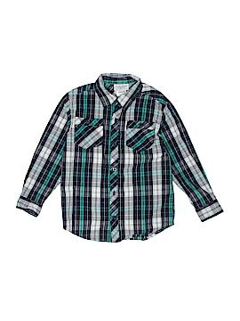 Toughskins Long Sleeve Button-Down Shirt Size 5 - 6