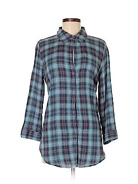 Fei 3/4 Sleeve Button-Down Shirt Size M