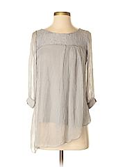 H Trend 3/4 Sleeve Silk Top