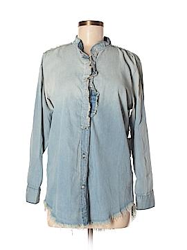 NSF Long Sleeve Button-Down Shirt Size S