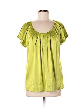 DKNY Short Sleeve Silk Top Size 8
