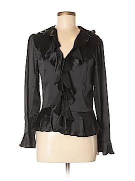 Chadwicks Long Sleeve Silk Top Size 8