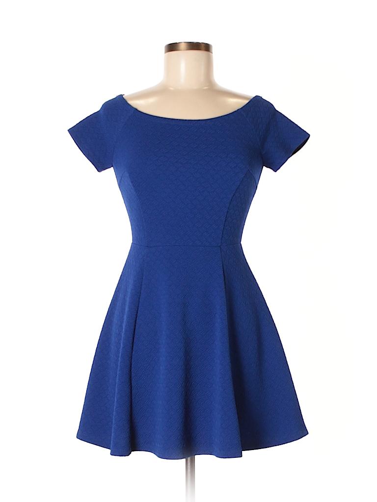 Forever 21 Solid Dark Blue Cocktail Dress Size M - 57% off   thredUP