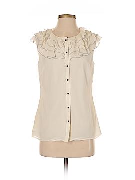Ann Taylor Short Sleeve Silk Top Size 4