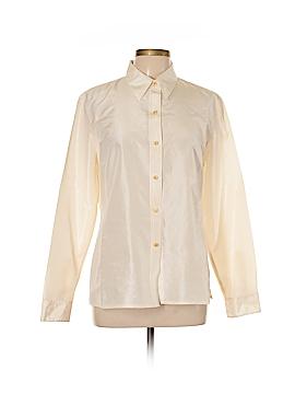 Isaac Mizrahi New York Long Sleeve Silk Top Size 14