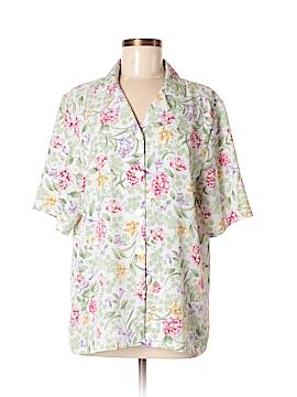 BonWorth Short Sleeve Blouse Size M