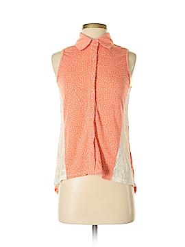 Xhilaration Sleeveless Button-Down Shirt Size S (Petite)