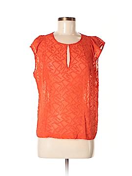 Broadway & Broome Short Sleeve Silk Top Size M