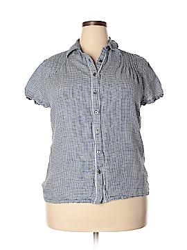 Lands' End Short Sleeve Button-Down Shirt Size 14W
