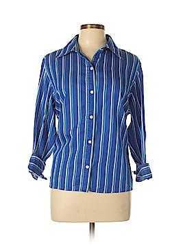 Jones New York Signature 3/4 Sleeve Button-Down Shirt Size 1X (Plus)