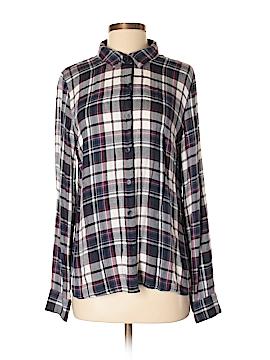 Mi ami Long Sleeve Button-Down Shirt Size L