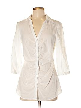 Ali & Kris 3/4 Sleeve Button-Down Shirt Size M