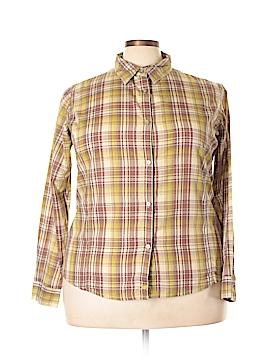 Wrangler Jeans Co Long Sleeve Button-Down Shirt Size 3X (Plus)