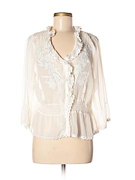 Soft Surroundings 3/4 Sleeve Blouse Size M