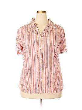 St. John's Bay Short Sleeve Button-Down Shirt Size 3X (Plus)
