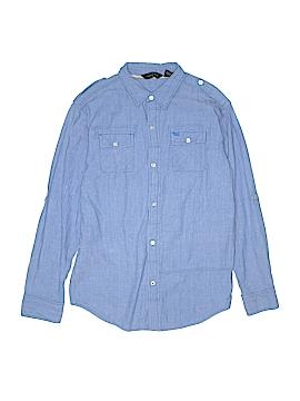 Sean John Long Sleeve Button-Down Shirt Size X-Large kids(18/20
